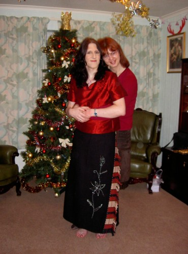 Susie and I on Boxing Day. I'm wearing one of the outfits I bought in Thailand, in case you hadn't guessed!