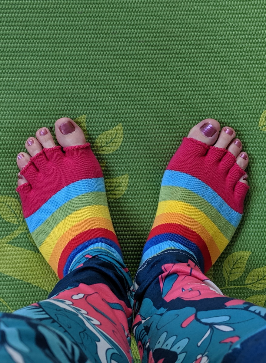 My work in progress yoga feet have literally kept me sane over the past couple of months!
